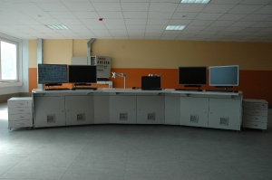 Стол диспетчеров центрального теплового щита на ТЭЦ