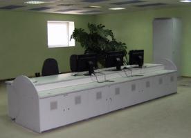 Стол операторов на цементном заводе